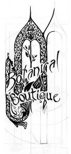 Botanical Boutique Sketch 2
