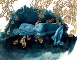 Blue Figure, 2017, Cyelowyn Willey