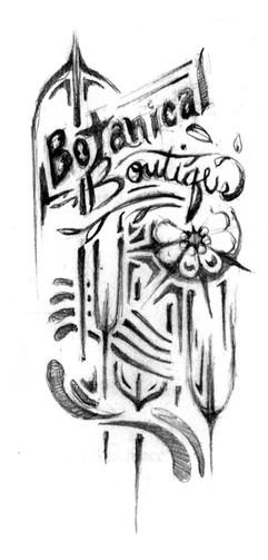 Botanical Boutique Sketch 1