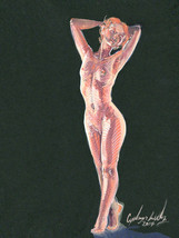 Gouache Figure Painting, 2017, Cyelowyn Willey