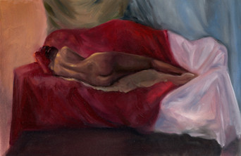 Nude Figure Painting- Women Laying, 2018, Cyelowyn Willey