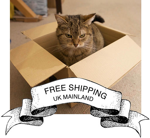 Free postage and packing UK Mainland, Cat not included