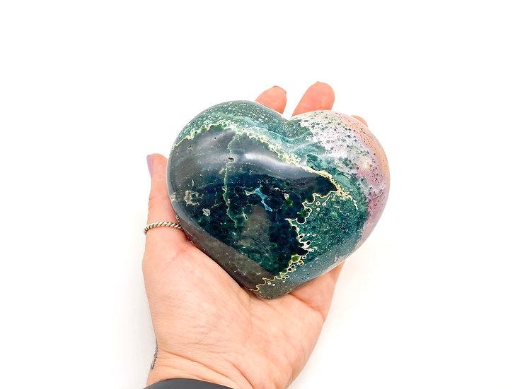 Coração de Jaspe Oceano - Jaspe Orbicular