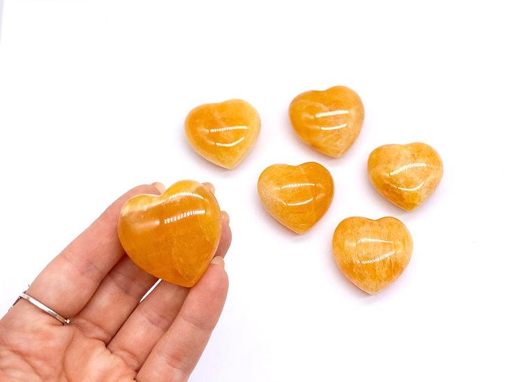 Corações de Calcite Amarela