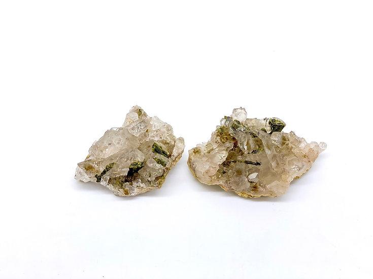 Epídoto em quartzo
