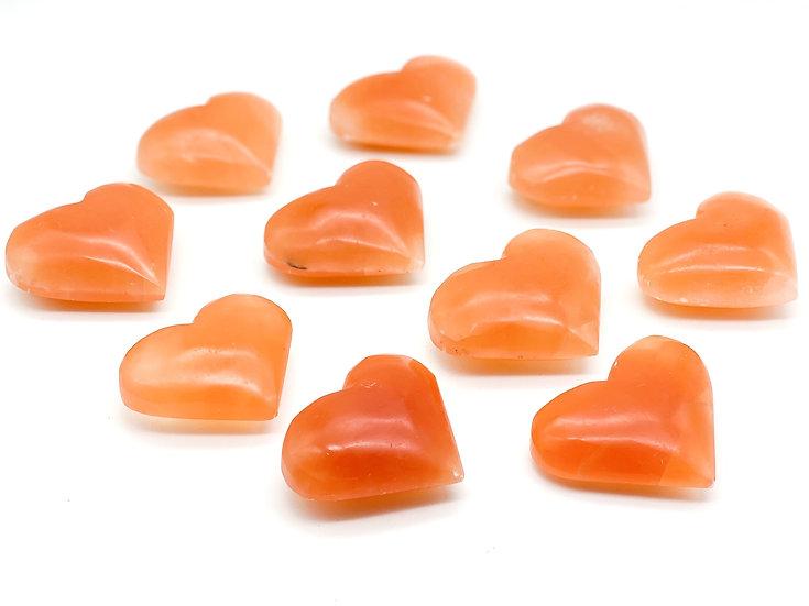 Corações de Selenite Pessego