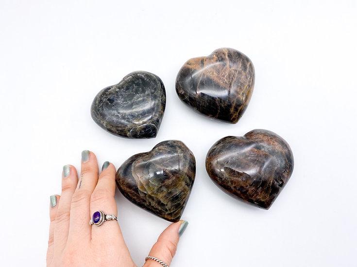 Corações Pedra da Lua Negra