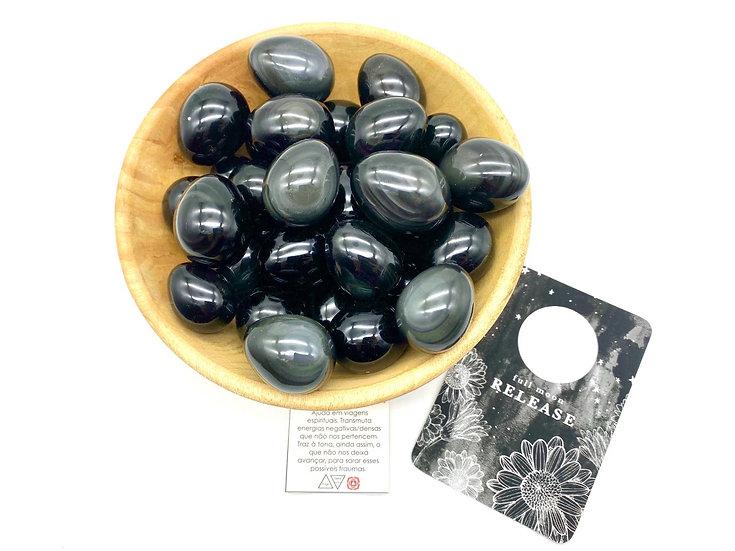 Ovos Yoni - Obsidiana Negra Arco-íris