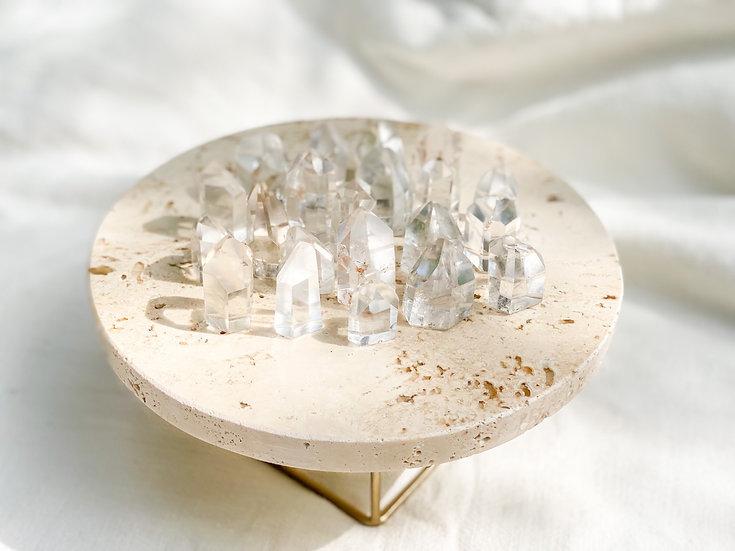 Pontas geradoras de quartzo