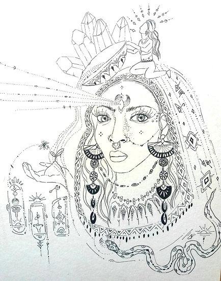 Ilustração ''Tribal Earth''