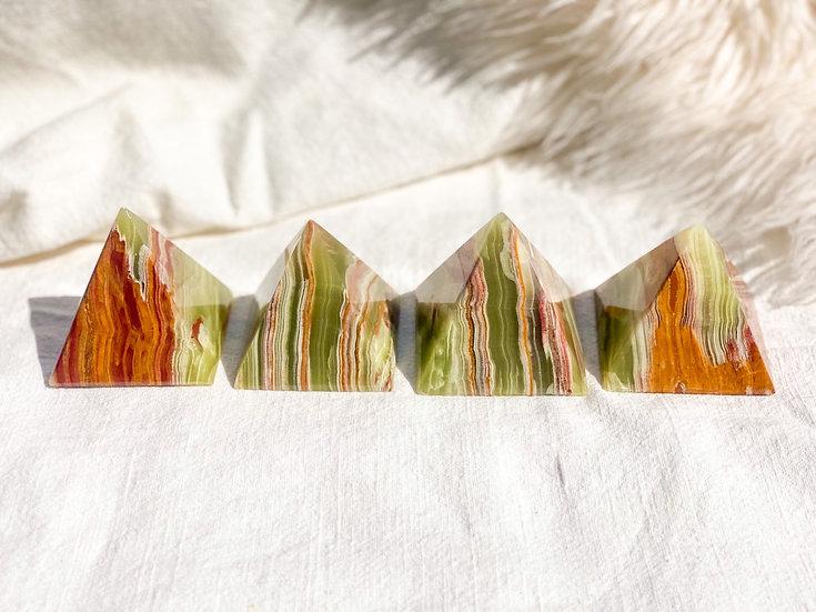 Pirâmide Pequena de Onix Verde