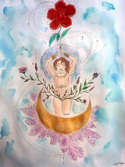 Ilustração ''The Flower Blooms''