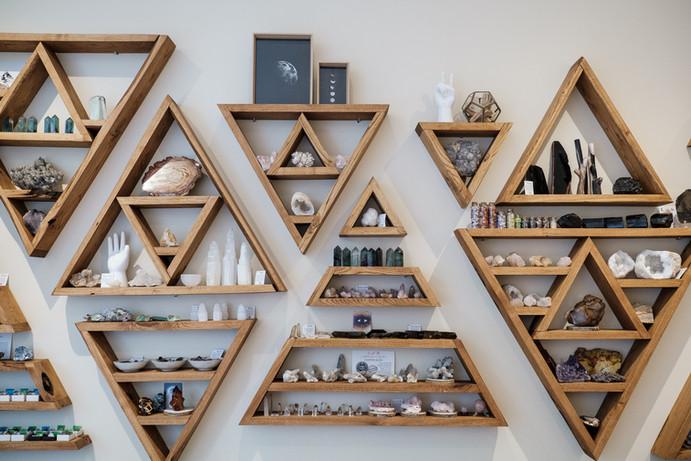 loja de cristais