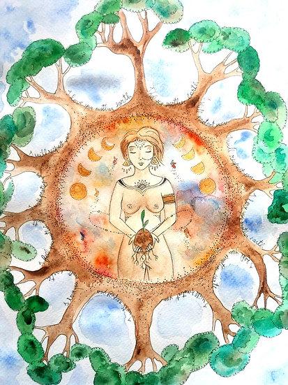Ilustração ''Mama Nature''