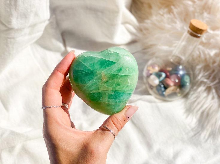 Coração de Fluorite verde