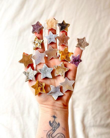 Estrelas de Calcedónia, Ametista e Quartzo