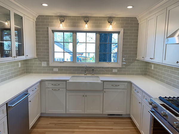 Subway Tile Backsplash to Ceiling