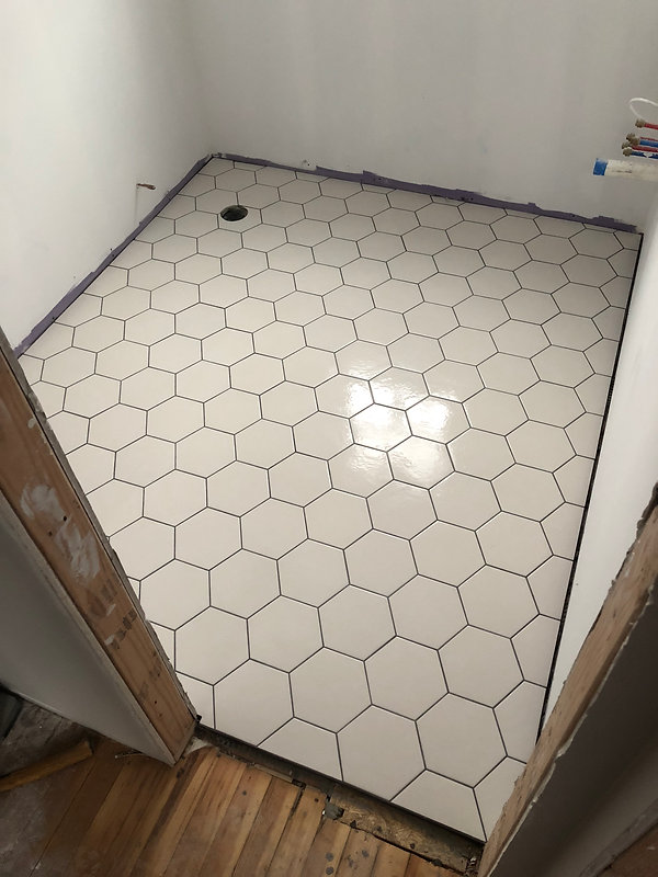 Hex Floor Tile White
