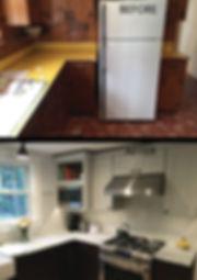 Kitchen Renovation Dark Base with Light Uppes