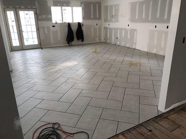 Large Format Herringbone Tile