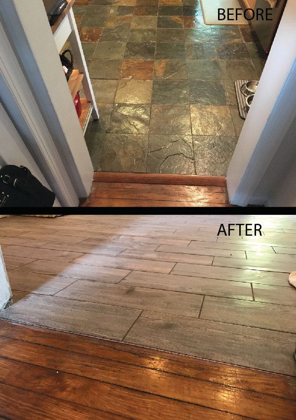 Tile Replacement Wood Look Flush Transition
