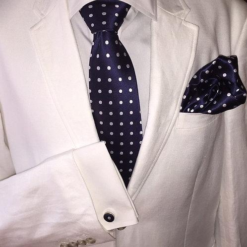 Franchini & Co. Men's 100% Silk Polka Dot Tie