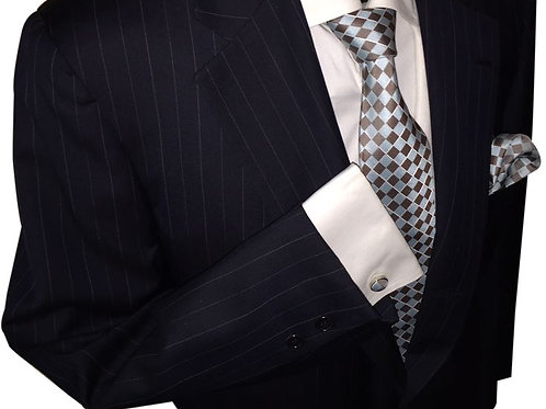 Franchini & Co. Men's 100% Silk Diamond Pattern Tie