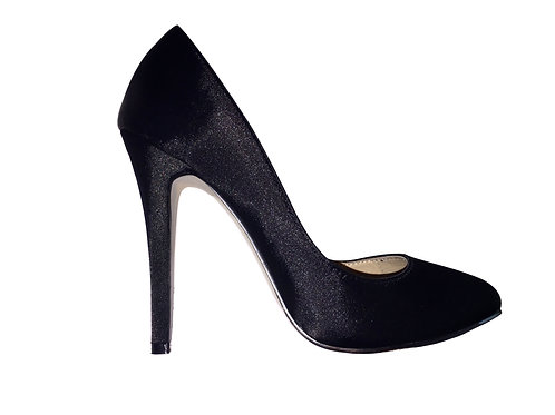 Franchini & Co. Elizabeth Black Satin Pump