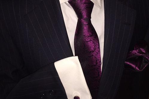 Franchini & Co. Men's 100% Silk Floral Tie