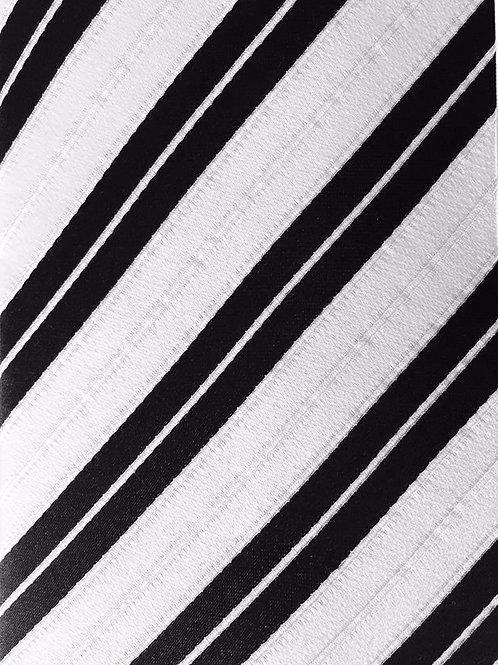 Franchini & Co. Men's 100% Silk Thin Striped Pocket Square Handkerchief