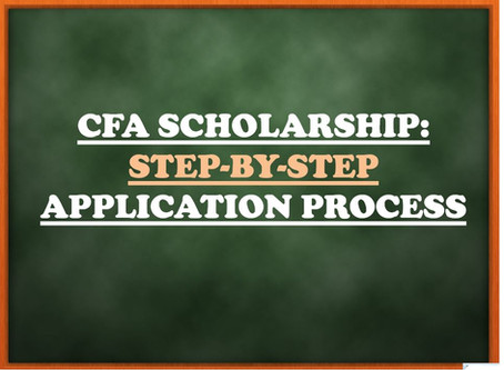 CFA Scholarship 2021: Step-by-step application process