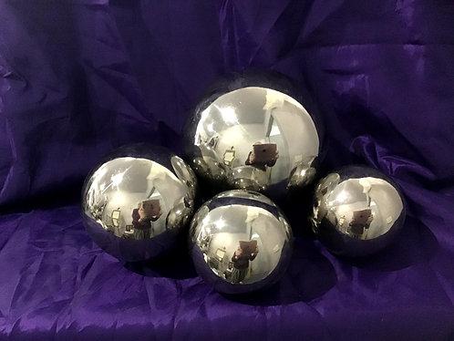 Decorative Chrome Balls set of 4  $20 hire