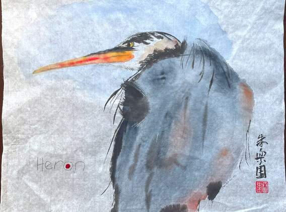 Great Blue Heron as The Dude