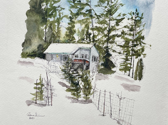 SOLD: Maryrobin's and Don's Home with Snow