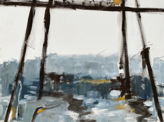 Haiku (Great Blue Heron with Hawtorne Bridge)