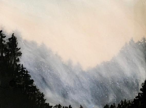 Treeline with Lens Flare