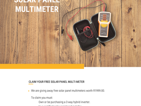 Free Solar Panel Multimeter