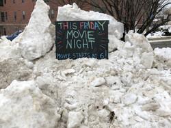 Snow won't stop movie night!