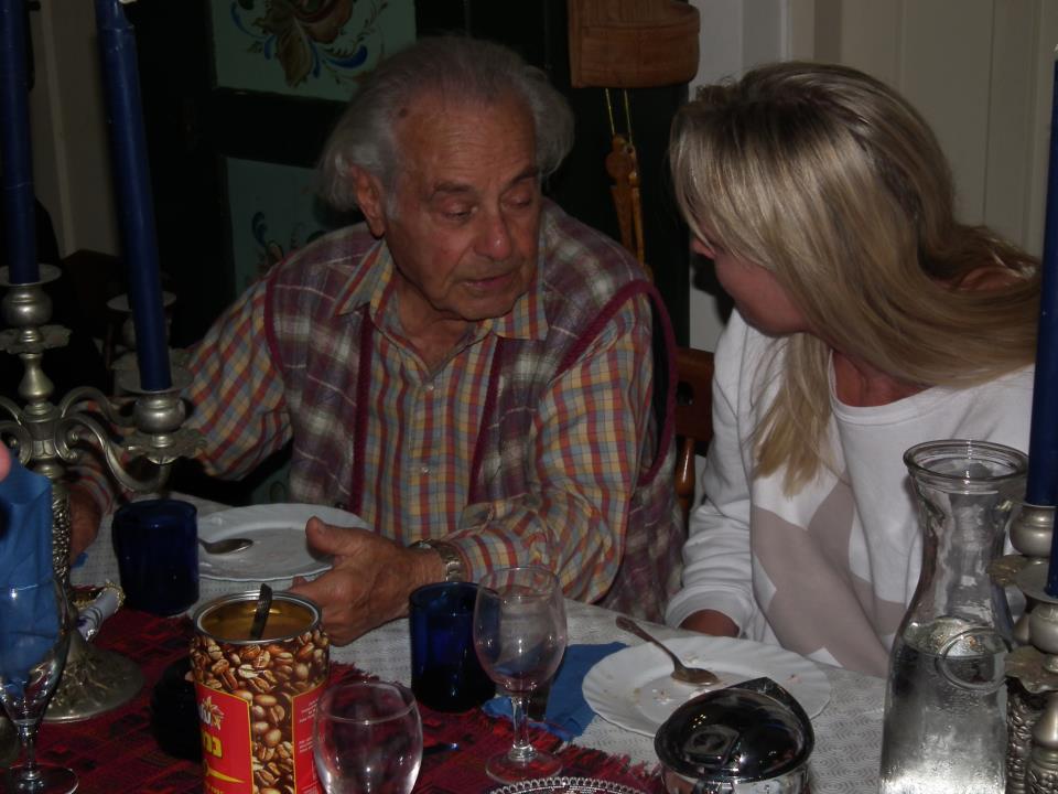 Dov Eisdöerfer var i høst på visitt hos Lilly på Kollevoll