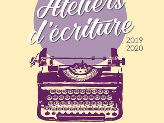 """Le flyer """"Atelier d'écriture 2019-2020"""" est là !"""