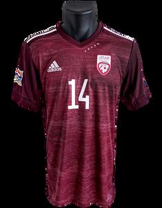 Latvia 2020/21 Home Matchworn Andrejs Cigaņiks