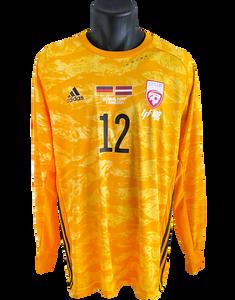 Latvia 2020/21 Centenary Goalkeeper Shirt Matchworn Roberts Ozols