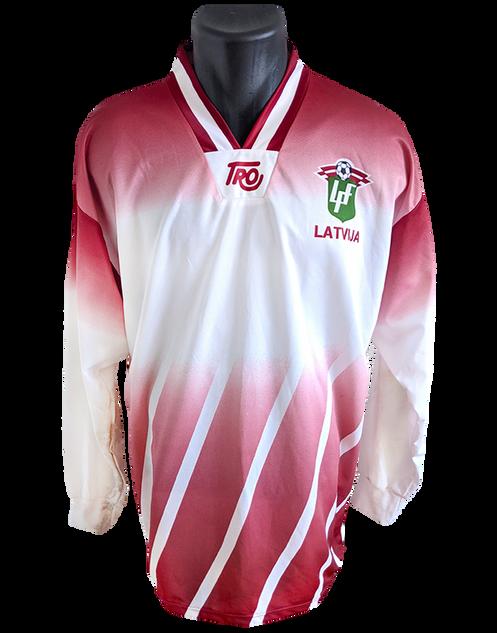 Latvia 1996/97 Home Matchworn Jurijs Ševļakovs