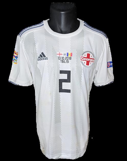 Georgia 2018/20 Matchworn Otar Kakabadze