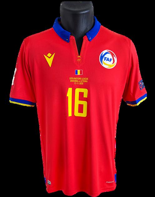 Andorra 2020/21 Matchworn Alex Martínez