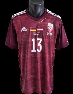 Latvia 2020/21 Centenary Shirt Matchworn Raivis Jurkovskis