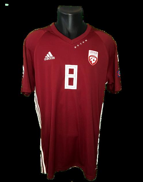 Latvia 2018/19 Home Matchworn Oļegs Laizāns