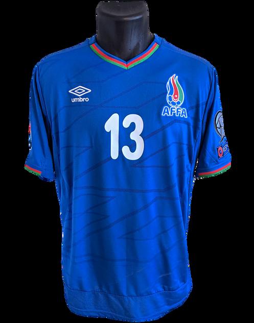 Azerbaijan 2014/16 Home Matchworn Matchworn Dimitrij Nazarov