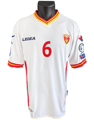 Montenegro 2014/16 Away Matchworn Žarko Tomašević