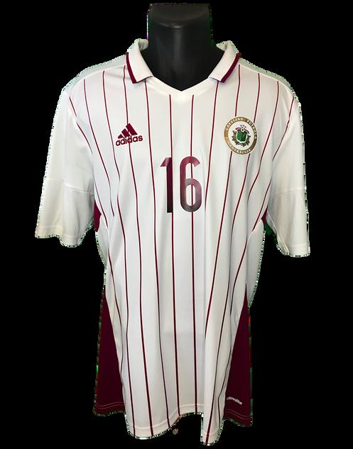 Latvia 2016/18 Away Matchworn Artjoms Rudņevs
